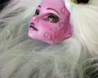 Monster High repaint, Custom High Monster, Monster High OOAK, Operetta, Head Only.