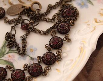 Vintage Liz Palacios Vintage Style Swarovski Amethyst Crystal Necklace
