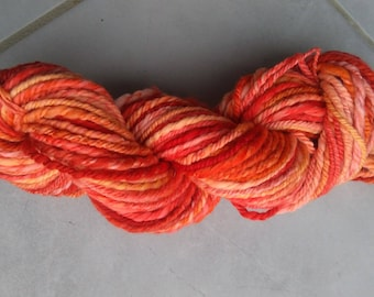 """Sunset"" hand-spun wool"
