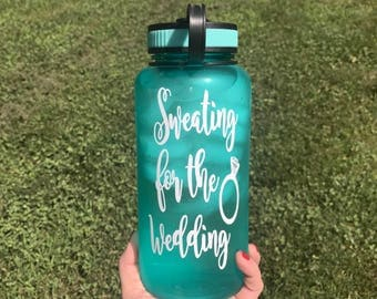 Sweating for the Wedding 34oz water bottle