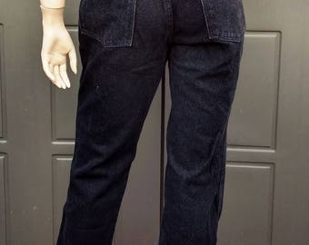 Wrangler  black Denim Jeans  vintage 80's Waist 30 in