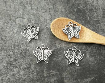 Butterfly, Butterfly in silver, 16 x 16 mm charms pendants charms