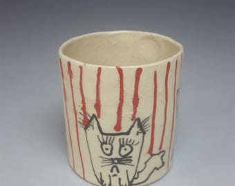 Apathy Cat Whiskey Cup