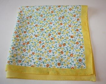 So Sweet Yellow Floral Vintage Scarf