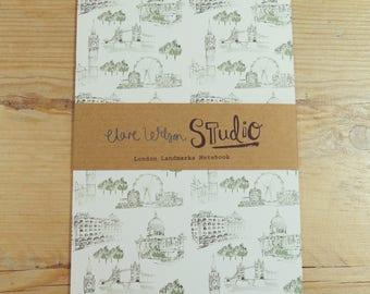 A5 Notebook, Jotter, Sketchbook - London Landmarks