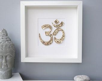 Yoga gift, Om wall art, yoga studio decor, boho wall art, zen gift, yoga art, meditation art, home decor