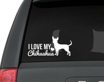 Chihuahua decal, Chihuahua sticker, Chihuahua mom, Chihuahua gift, Chihuahua love, Chihuahua car decal, Chihuahua lover, Chihuahua art