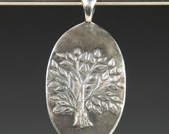Reversible Fine  Silver Pendant