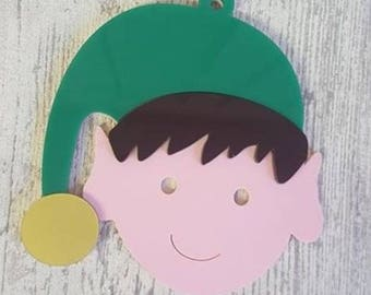 Christmas Elf Bauble Ornament Personalised by Duck Duck Goose