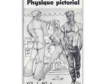 """Vol.7 No.4  - Uncirculated Vintage Copy Of Physique Pictorial - 'Flirtation"""" Cover, Daring For It's Day - NEW ITEM!"""