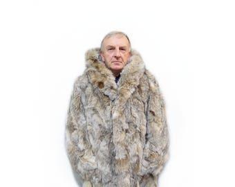 Fashionable fur jacket for men F610