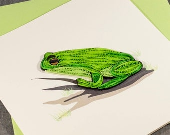 3D Blank Quilled Frog Quilling Animal Card