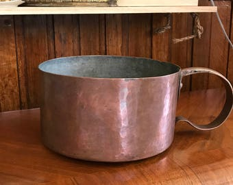 Hand Forged or Pounded Copper Pot LARGE