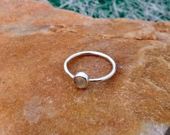 Natural Chalcedony Ring - Stone Ring - Gemstone Ring - Gemstone Jewelry - Handmade Jewelry