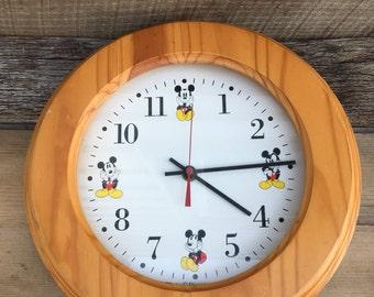 Mickey Mouse Clock Etsy