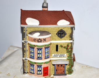 DEPT 56 Kings Road Post Office, Department 56 Dickens, Kings Road Post Office, Collectible House, Lighted House, Christmas Lighted House