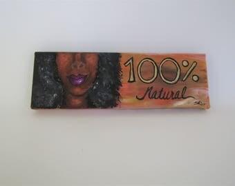 Natural hair art, Black woman art, African American art, black art, African woman home decor, African American painting, black artwork