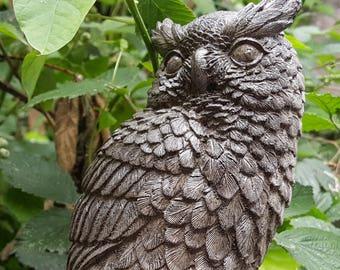 EAGLE   OWL - Garden Ornament. Cast Stone , Hand Made