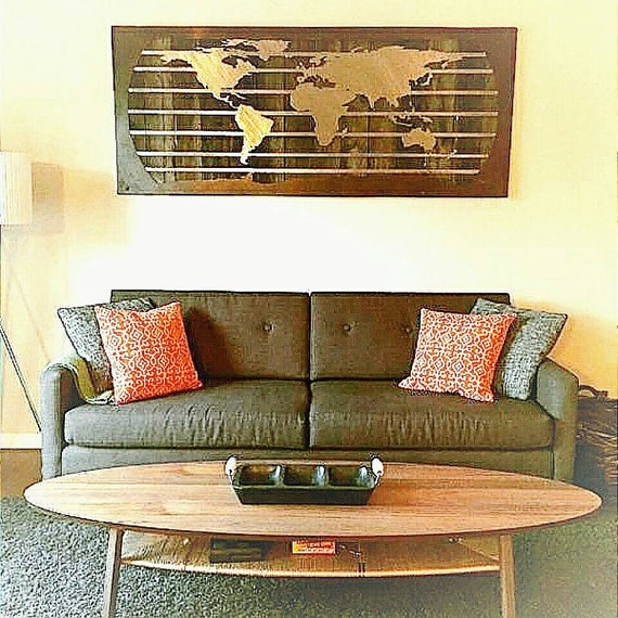 World map metal wall art unique map gifts metal map map like this item gumiabroncs Gallery