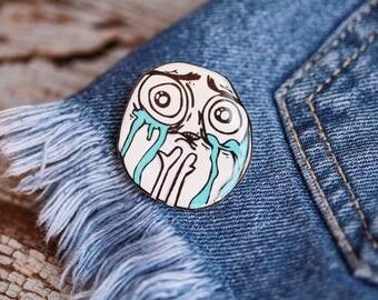 Cuteness overload pin , Meme pin , Cuteness overload jewelry , Meme lover gift , Meme jewelry , Meme brooch