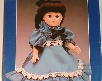 Vintage Vogue Porcelain World of Genny in a Blue Dress made in Taiwan 1984