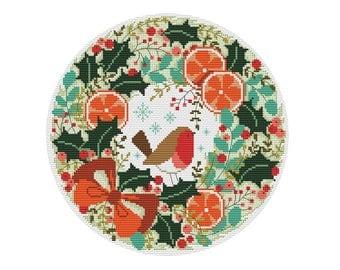 Christmas Wreath - Durene J Cross Stitch Pattern - DJXS2231