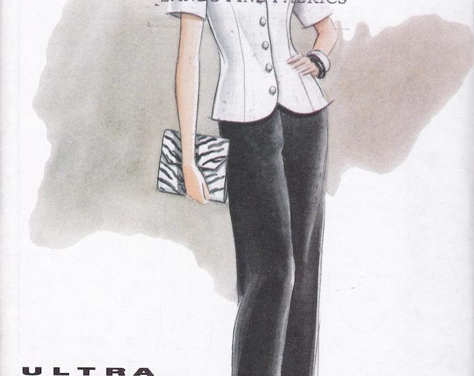 Free Us Ship Sewing Pattern Vogue 9439 Vintage 90's Ultra EZ Pants Top Pants Factory Folded  Size 6 8 10 Bust 30.5 31.5 32.5 New Uncut