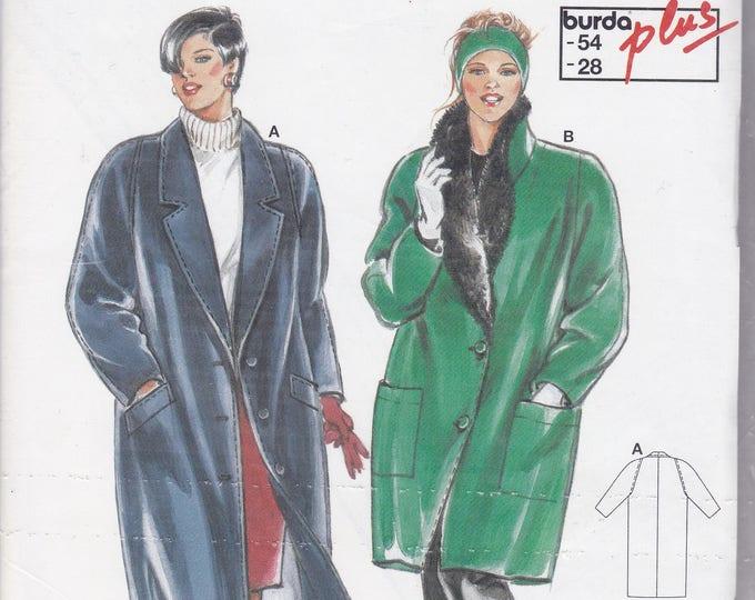 FREE US SHIP Burda 4426 Sewing Pattern Bid Coat Jacket Fur Lined Size 18 20 22 24 26 28 Bust 40 42 44 46 48 50  plus size Factory Folded