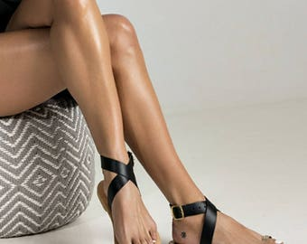 Bohemian women sandals. Ideal women shoes for summer! Made with genuine leather. Slip resistant sole. Designed to last
