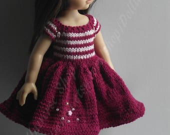 Knitted Set for Paola Reina, Corolle Les Cheries , 13 inch dolls