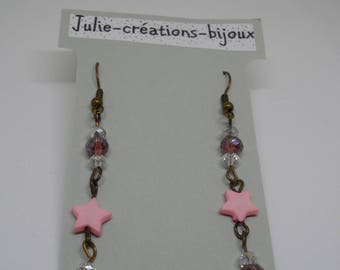 Earrings Crystal beads and Star