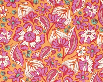 Tula Pink Chipper Vines in Sorbet; 1/2 yard cotton woven fabric