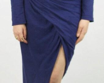 Retro style open front dress