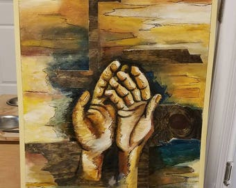 """Mixed Media Acrylic Painting on Wood """"Hope"""""""