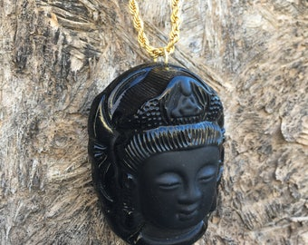 Natural Obsidian Necklace