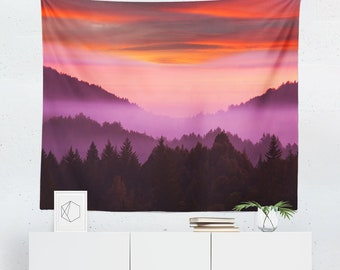 Mountain Wall Tapestry | Mountain Tapestry | Landscape Wall Tapestry | Landscape Tapestry | Mountain Wall Hanging | Mountain Wall Decor