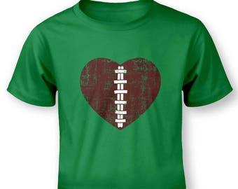 American Football Heart baby t-shirt