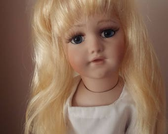 11/12inch Apricot Blonde Straight Mid Length Dolls Wig