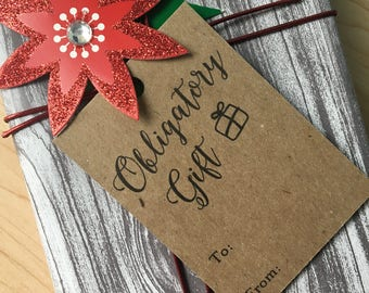 Obligatory Gift Tags | Gift Tag Set | Funny Gift Tags | Holiday Tags | Christmas Tags | Birthday Tags | Gift Tags | Tags | Hang Tags