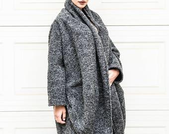 Long Cardigan, Wool Coat, Gray Cardigan, Cardigan Coat, Women Cardigan, Winter Cardigan, Warm Cardigan, Loose Cardigan, Fashion Cardigan