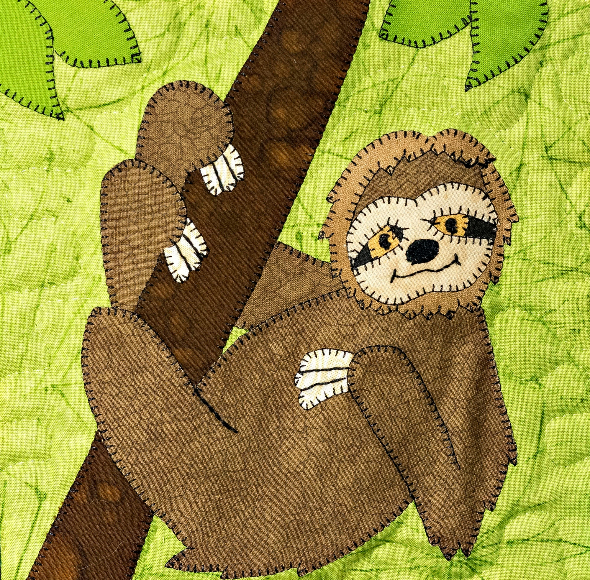 Sloth Pdf Applique Baby Quilt Block Pattern Jungle Or Zoo Or