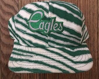 Vintage 90s Philadelphia Eagles Zubaz NFL Snapback Hat Baseball Cap Patch
