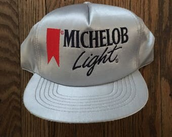 Vintage 90s Michelob Light Beer Snapback Hat Baseball Cap * Made In USA