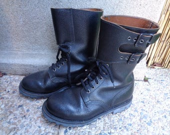 "French army boots ,Vintage Leather boots,Men""army Rangers"""