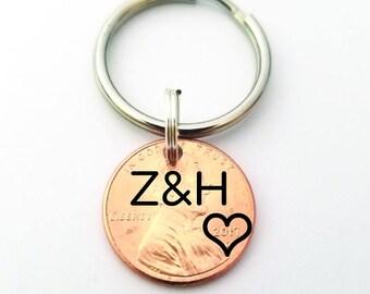 Gift for Husband - Lucky Penny - Gift for Boyfriend - Custom Penny - Anniversary Gift - Penny Keychain - Custom Keychain - Gift for Men