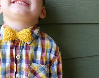 Mustard Boys Bow Tie / Boys Bow Tie / Newborn Boy Bow Ties / Boy Bow Ties / Newborn Boys Bow Tie / Baby Shower Gift