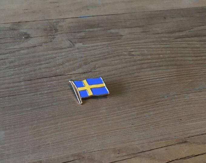 Vintage Brass Sweden Enamelled Pin