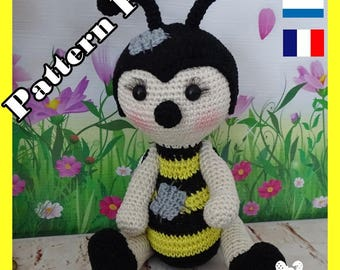 Crochet Pattern, pattern, tutorial, Amigurumi, oh-oh, the bee