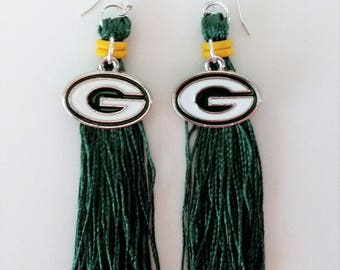 Green Bay Packers Tassel Earrings