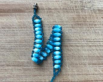 Blue Bracelet, Beaded Bracelet, Blue Beaded Bracelet